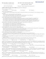 Bài giảng Đề thi thử ĐH Môn Vật lý _Đề số 4