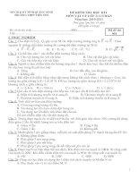 Bài giảng Vật Lý 11: Đề thi - Đáp án HK1 2010-2011