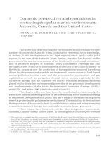 Domestic perspectives and regulations in protecting the polar marine environment - Australia, Canada and the United States