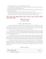 Bài giảng bộ tài liệu ngữ văn 9(chưa chuẩn KTKN)