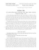 Bài giảng các văn bản đại hội công đoàn