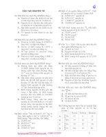 Trắc nghiệm hóa học - Phần cấu tạo nguyên tử