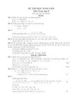 Bài soạn Đề thi HSG Toan 9 vong I-HD