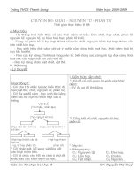 Bài giảng GIÁO ÁN TỰ CHỌN HÓA 8- THAM KHẢO