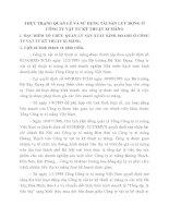 THỰC TRẠNG QUẢN LÝ VÀ SỬ DỤNG TÀI SẢN LƯU ĐỘNG Ở CÔNG TY VẬT TƯ KỸ THUẬT XI MĂNG