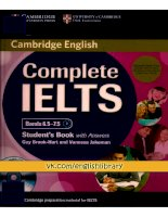Complete IELTS bands 6.5 - 7.5 Student Book