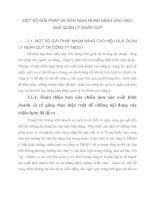 MỘT SỐ GIẢI PHÁP VÀ KIẾN NGHỊ NHẰM NÂNG CAO HIỆU QUẢ QUẢN LÝ NGÂN QUỸ