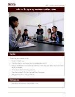 Bài 2: Các dịch vụ Internet thông dụng