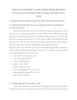 MỘT SỐ GIẢI PHÁP VÀ KIẾN NGHỊ NHẰM MỞ RỘNG CVTD TẠI NGÂN HÀNG TMCP NGOẠI THƯƠNG VIỆT NAM