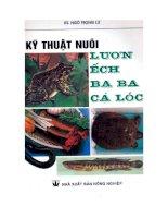 Kỹ thuật nuôi lươn, ếch, ba ba, cá lóc - KS Ngô Trọng Lư