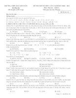 Tài liệu ĐỀ THI THỬ ĐẠI HỌC LẦN 1-2011-KHỐI A