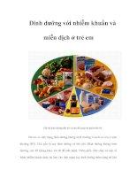 Dinh dưỡng với nhiễm khuẩn và miễn dịch ở trẻ em