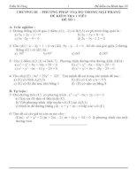 Bài soạn Kiểm tra 1 tiết Hình học 10 chương 3