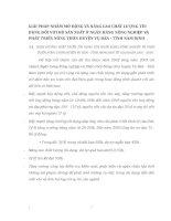 GIẢI PHÁP NHẰM MỞ RỘNG VÀ NÂNG CAO CHẤT LƯỢNG TÍN DỤNG ĐỐI VỚI HỘ SẢN XUẤT Ở NGÂN HÀNG NÔNG NGHIỆP VÀ PHÁT TRIỂN NÔNG THÔN HUYỆN VỤ BẢN