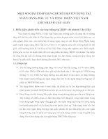 MỘT SỐ GIẢI PHÁP HẠN CHẾ RỦI RO TÍN DỤNG TẠI NGÂN HÀNG ĐẦU TƯ VÀ PHÁT TRIỂN VIỆT NAM
