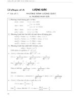 Toán ôn thi đại học - chuyên đề 2:  lượng giác
