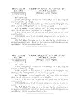 Gián án Đêf và đáp án Văn 8 HK I 2010-2011