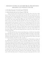 KHÁI QUÁT VỀ CÔNG TÁC XÁC ĐỊNH TRỊ GIÁ TÍNH THUẾ HÀNG NHẬP KHẨU Ở CỤC HẢI QUAN TP HÀ NỘI