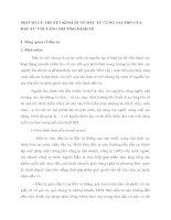 MỘT SỐ LÝ THUYẾT KINH TẾ VỀ ĐẦU TƯ CÙNG VAI TRÒ CỦA ĐẦU TƯ VỚI TĂNG TRƯỞNG KINH TẾ