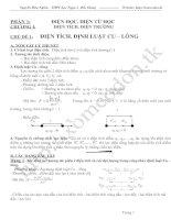 Bài giảng Tài liệu dạy thêm môn Vật lý 11