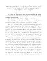 THỰC TRẠNG HIỆU QUẢ CÔNG TÁC QUẢN LÝ THU THUẾ GTGT ĐỐI VỚI CÁC DOANH NGHIỆP NGOÀI QUỐC DOANH TRÊN ĐỊA BÀN HUYỆN HIỆP HOÀ TỈNH BẮC GIANG