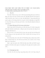 GIẢI PHÁP THÚC ĐẨY NIÊM YẾT CỔ PHIẾU CÁC NGÂN HÀNG THƯƠNG MẠI CỔ PHẦN VIỆT NAM TRÊN TTCK