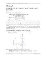 Chương 2: Mạch phân cực và khuếch đại tín hiệu nhỏ dùng BJT