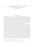The thermodynamics of granular materials Sir Sam Edwards and Raphael Blumenfeld