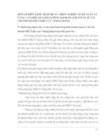 MỘT SỐ KIẾN NGHỊ NHẰM HOÀN THIỆN NGHIỆP VỤ KẾ TOÁN VÀ NÂNG CAO HIỆU QUẢ HOẠT ĐỘNG KINH DOANH NGOẠI TỆ TẠI CHI NHÁNH NHCT KHU VỰC CHƯƠNG DƯƠNG.