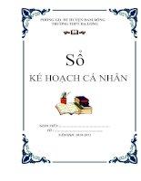 Bài soạn MAU KE HOACH CA NHAN
