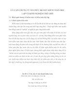 LÍ LUẬN CHUNG VỀ TỔ CHỨC BỘ MÁY KIỂM TOÁN ĐỘC LẬP VÀ KINH NGHIỆM THẾ GIỚI