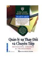 Cẩm nang kinh doanh Harvard - Quản lý sự thay đổi và chuyển tiếp