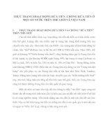 THỰC TRẠNG HOẠT ĐỘNG RỬA TIỀN - CHỐNG RỬA TIỀN Ở MỘT SỐ NƯỚC TRÊN THẾ GIỚI VÀ VIỆT NAM