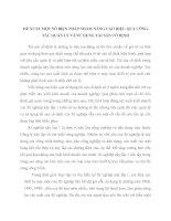ĐỀ XUẤT MỘT SỐ BIỆN PHÁP NHẰM NÂNG CAO HIỆU QUẢ CÔNG TÁC QUẢN LÝ VÀ SỬ DỤNG TÀI SẢN CỐ ĐỊNH