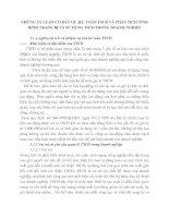 NHỮNG LÝ LUẬN CƠ BẢN VỀ  KẾ  TOÁN TSCĐ VÀ PHÂN TÍCH TÌNH HÌNH TRANG BỊ VÀ SỬ DỤNG TSCĐ TRONG DOANH NGHIỆP
