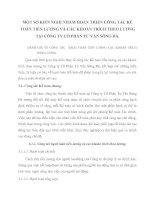 MỘT SỐ KIẾN NGHỊ NHẰM HOÀN THIỆN CÔNG TÁC KẾ TOÁN TIỀN LƯƠNG VÀ CÁC KHOẢN TRÍCH THEO LƯƠNG TẠI CÔNG TY CỔ PHẦN TƯ VẤN SÔNG ĐÀ