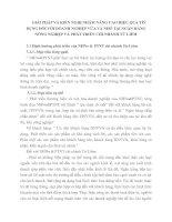 GIẢI PHÁP VÀ KIẾN NGHỊ NHẰM NÂNG CAO HIỆU QUẢ TÍN DỤNG ĐỐI VỚI DOANH NGHIỆP VỪA VÀ NHỎ TẠI NGÂN HÀNG NÔNG NGHIỆP VÀ PHÁT TRIỂN CHI NHÁNH TỪ LIÊM