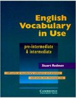 Sử dụng từ vựng Tiếng Anh hiệu quả - Trình độ Trung cấp