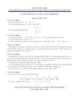 Bài soạn 5 đề tuyển sinh lớp 10 Môn Toán và đáp án