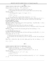 Gián án bô đề ôn thi tốt nghiệp  môn toán 12