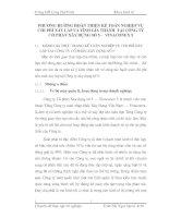PHƯƠNG HƯỚNG HOÀN THIỆN KẾ TOÁN NGHIỆP VỤ CHI PHÍ XÂY LẮP VÀ TÍNH GIÁ THÀNH  TẠI CÔNG TY  CỔ PHẦN XÂY DỰNG SỐ 5