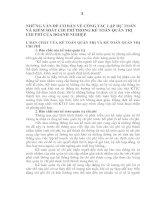 NHỮNG VẤN ĐỀ CƠ BẢN VỀ CÔNG TÁC LẬP DỰ TOÁN VÀ KIỂM SOÁT CHI PHÍ TRONG KẾ TOÁN QUẢN TRỊ CHI PHÍ CỦA DOANH NGHIỆP