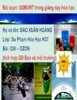 Bài giảng Bài: oxi ozon (GD BVMT)