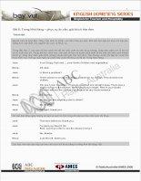 Bài 8: Trong Nhà Hàng – phục vụ ân cần; giải thích hóa đơn. Transcript Quỳnh