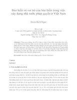 Bảo hiến và vai trò của bảo hiến trong việc  xây dựng nhà nước pháp quyền ở Việt Nam