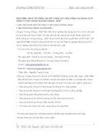 TÌNH HÌNH THƯC TẾ CÔNG TÁC KẾ TOÁN VẬT LIỆU CÔNG CỤ DỤNG CỤ Ở CÔNG TY XÂY DỰNG HƯƠNG GIANG