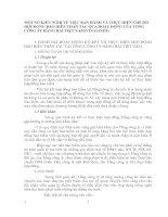 MỘT SỐ KIẾN NGHỊ VỀ VIỆC BAN HÀNH VÀ THỰC HIỆN CHẾ ĐỘ HỢP ĐỒNG BẢO HIỂN THÂN TÀU QUA HOẠT ĐỘNG CỦA TỔNG CÔNG TY HÀNG HẢI VIỆT NAM