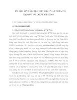 BÀI HỌC KINH NGHIỆM CHO VIỆC PHÁT TRIỂN THỊ TRƯỜNG TÀI CHÍNH VIỆT NAM