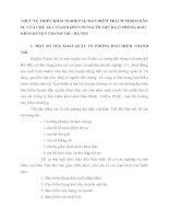 THỰC TẾ TRIỂN KHAI NGHIỆP VỤ BẢO HIỂM TRÁCH NHIỆM DÂN SỰ CỦA CHỦ XE CƠ GIỚI ĐỐI VỚI NGƯỜI THỨ BA Ở PHÒNG BẢO HIỂM HUYỆN THANH TRÌ