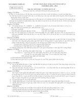 Bài giảng Đề và ĐA HSG Tỉnh An Nghệ môn Sinh 12B